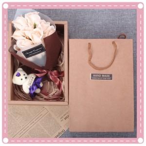 玫瑰花香皂花束小熊禮盒 玫瑰花 情人節必備 母親節必備 畢業季