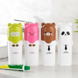 卡通旅行牙刷盒 牙刷牙膏收納盒 旅行必備密封防漏牙刷杯