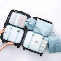 旅行行李收納7件組 旅遊必備行李箱整理袋 行李分裝袋 收納袋