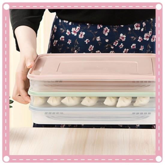 廚房食物PP保鮮盒 簡約水餃餛飩保鮮收納盒