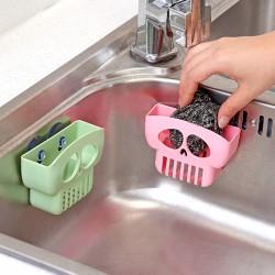 創意吸盤骷髏造型瀝水架 海綿肥皂置物架 廚房水槽多功能收納架