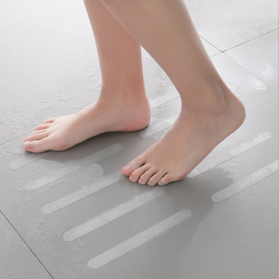 浴室浴缸透明防滑貼 樓梯防滑條 5枚入