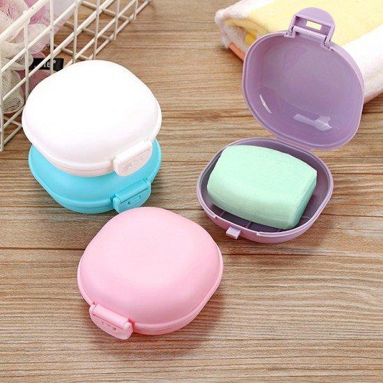 旅行必備防水肥皂盒 創意瀝水帶蓋香皂盒 浴室肥皂架