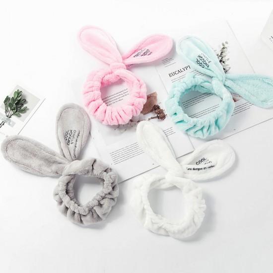 可愛兔耳朵洗臉束髮帶 卡通兔子髮帶 洗臉敷面膜必備束髮帶