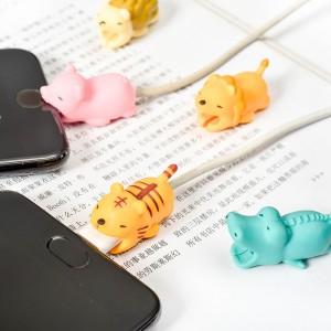 創意立體卡通充電線保護套 可愛動物造型充電線保護套