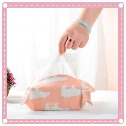 棉麻布藝抽取式衛生紙收納袋 創意可愛動物紙巾套 紙巾盒 面紙套