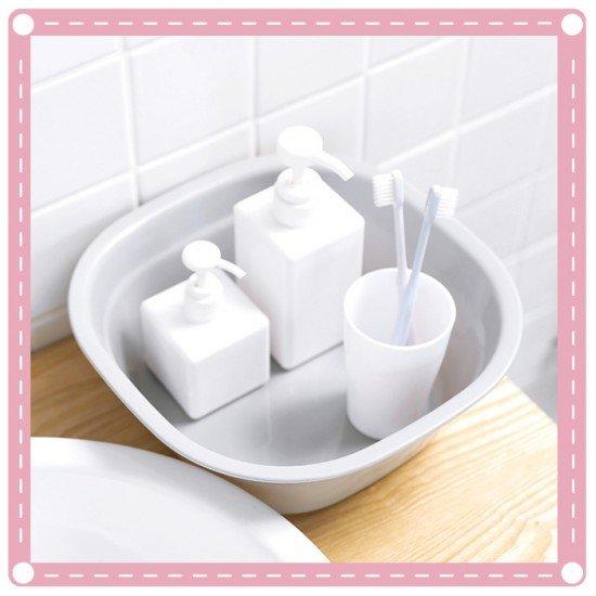 簡約日式加厚洗臉盆 洗菜盆 嬰兒寶寶洗澡盆