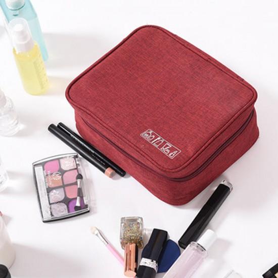 牛津布四方形化妝包 出差旅行必備洗漱包 旅行用品收納包