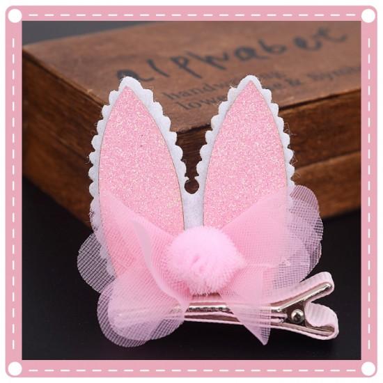 萬聖節必備 兒童兔耳朵髮夾 化裝舞會派對耳朵造型髮夾 頭飾