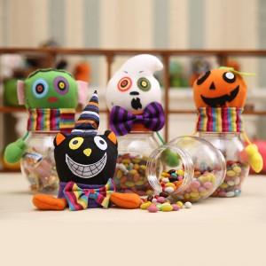 萬聖節必備 裝飾透明糖果罐 南瓜黑貓立體造型糖果盒 禮物罐
