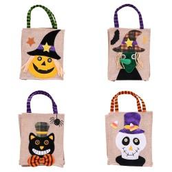萬聖節必備 麻布立體造型手提袋 南瓜巫婆禮物袋 派對糖果袋