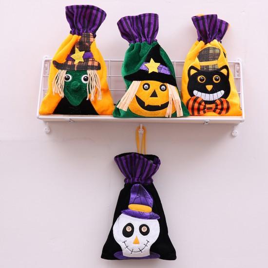 萬聖節必備 無紡布束口袋 立體圖案糖果袋 派對必備禮物袋 禮品袋