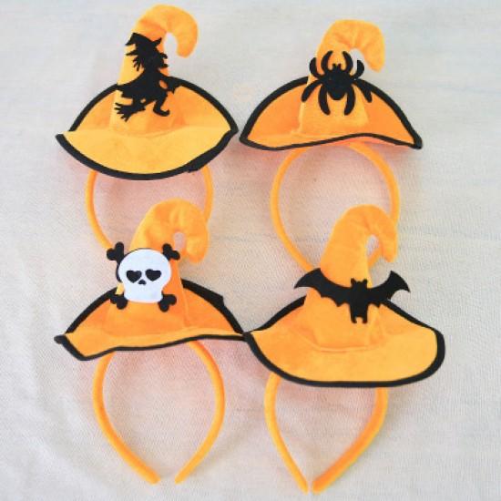 萬聖節必備 巫婆帽髮箍 表演派對道具 女巫帽裝扮頭箍