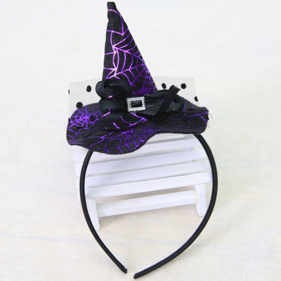 萬聖節必備 女巫帽子髮箍 成人兒童派對髮箍 頭飾