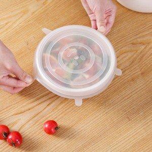 燒烤必備 矽膠保鮮蓋6件組 水果蔬菜保鮮碗蓋 隨意拉伸保鮮膜
