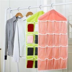 創意衣櫃必備襪子內褲分類收納袋 16格收納掛袋