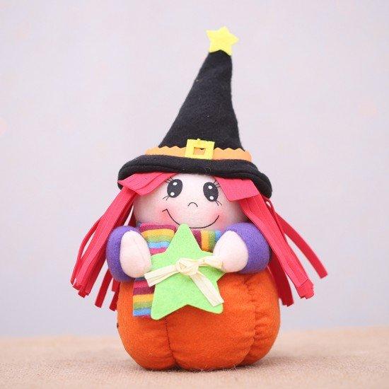 萬聖節必備 小女巫造型娃娃 派對裝飾用品