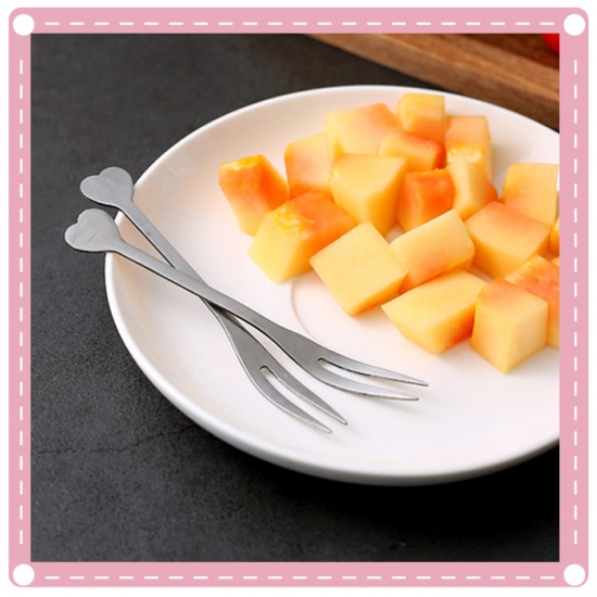 創意愛心造型水果叉 廚房必備餐具 小叉子