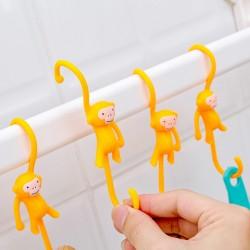 可愛猴子造型掛勾 創意櫥櫃S掛勾 廚房浴室必備掛架