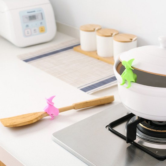 創意小人造型鍋蓋防溢器 鍋蓋加高器 鍋鏟湯勺支架