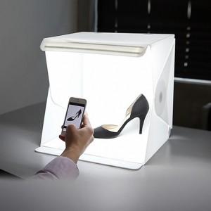 方便攜帶簡易式40cm攝影棚 LED燈條迷你攝影棚 創意小型攝影棚