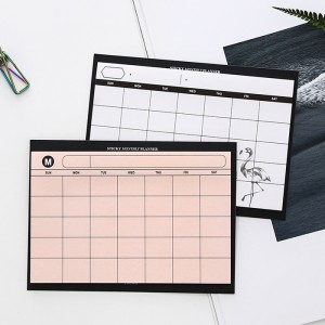 簡約桌面月計畫日程表 創意可撕月計畫本 提升工作效率計畫表
