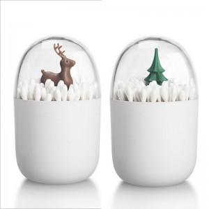創意造型棉花棒牙籤收納盒 收納罐 防塵防水