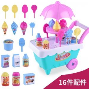 創意冰淇淋手推車玩具 家家酒仿真糖果手推車 女孩玩具