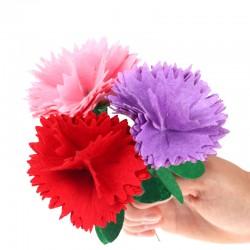 母親節禮物 康乃馨DIY材料包 幼兒園兒童 美勞課  免剪裁不織布