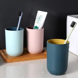 清新簡約漱口杯 創意雙色刷牙杯 情侶水杯