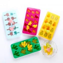 矽膠製冰盒 仙人掌 鳳梨 椰子樹 紅鶴造型製冰格