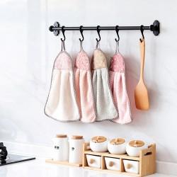 速乾珊瑚絨擦手巾 掛式吸水毛巾 加厚 不掉毛