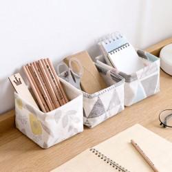 清新可折疊收納籃 茶几 辦公桌 梳妝臺 文具雜物整理盒 桌面收納盒