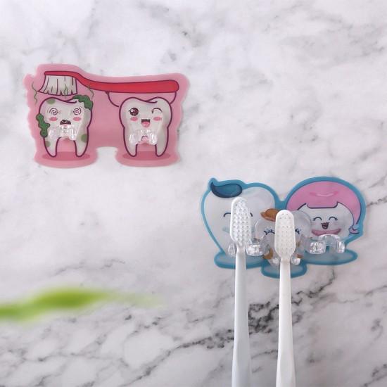 狠牢固黏貼式牙刷架 充電線插頭收納掛勾