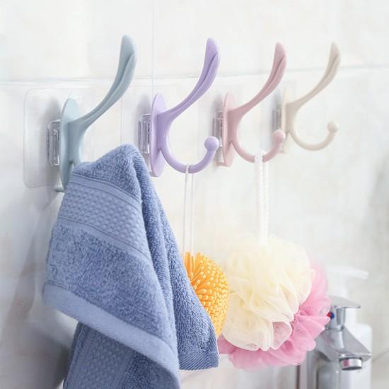 北歐風免打孔掛鉤 浴室廚房臥室 免釘壁掛衣帽鉤