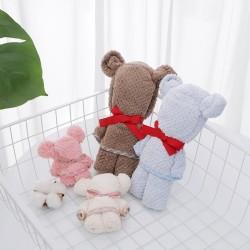 創意小熊造型毛巾 珊瑚絨吸水毛巾 造型毛巾