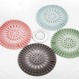 矽膠水槽排水口過濾網 浴室廚房必備毛髮濾網 下水道過濾網