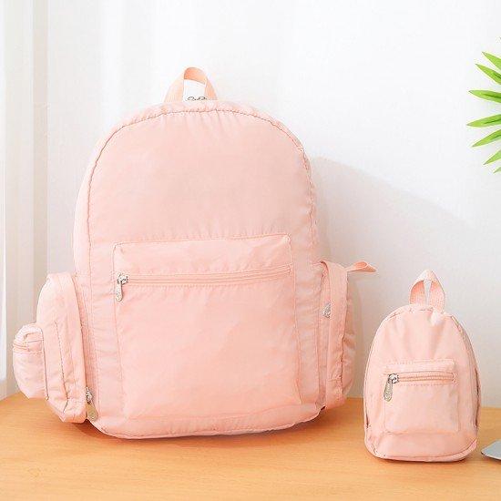 輕便旅行摺疊雙肩包 多功能折疊背包 防水背包 方便攜帶百變小書包