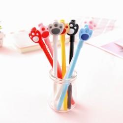 貓爪造型中性筆 創意萌萌造型原子筆 0.5mm黑色原子筆