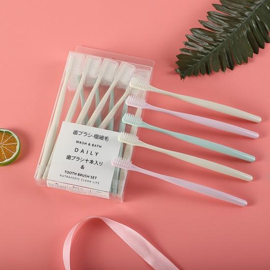 旅行軟毛牙刷 方便攜帶旅行牙刷 簡約軟毛牙刷 10支裝