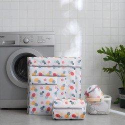 加厚多尺寸印花洗衣袋 創意拉鍊洗衣收納袋 預防衣物打結