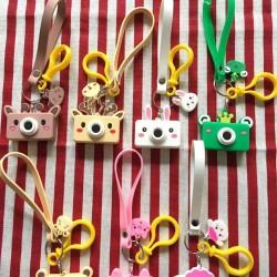 兒童相機造型鑰匙圈 可愛動物造型鑰匙圈 超萌鑰匙扣 小吊飾