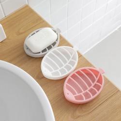 小魚造型瀝水肥皂盒 雙層瀝水造型塑膠香皂盒 浴室必備肥皂架 香皂架