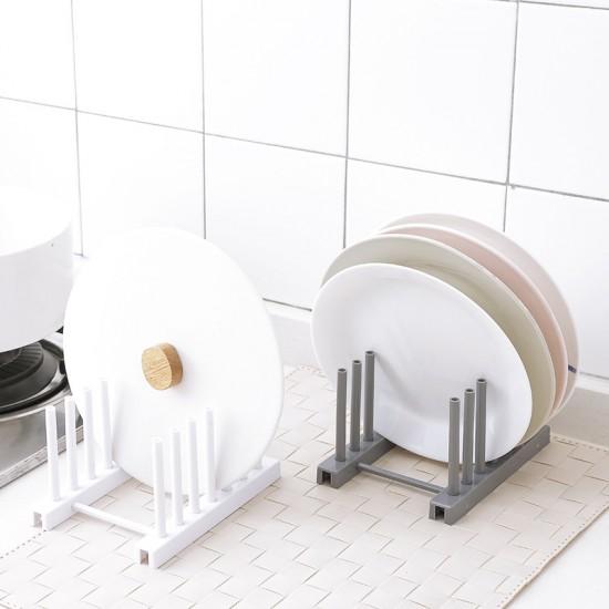 多用途碗盤瀝水架 可拆式鍋蓋收納架 碗盤塑膠瀝水置物架