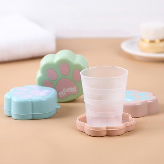 貓爪伸縮摺疊杯 創意造型旅行杯 外出必備 杯子 伸縮折疊杯