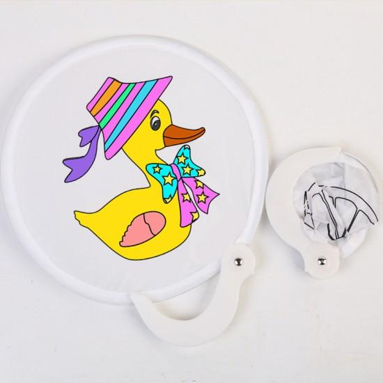 DIY手繪空白摺疊扇 創意美術材料 塗鴉扇子 夏日必備折疊扇