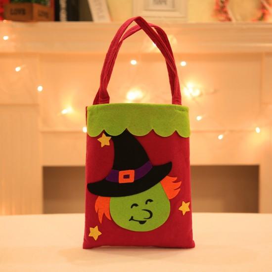 萬聖節貼畫手提袋 無紡布派對必備禮物袋 餅乾糖果收納袋