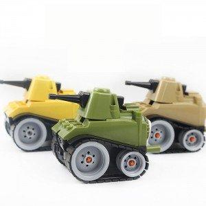 坦克車造型削筆器 學生文具必備 創意DIY組裝削鉛筆器