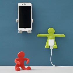 小人造型可彎曲掛勾 壁掛牆面充電架 任意彎曲收納架 衣帽掛鈎 插頭掛鉤