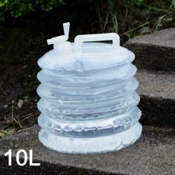 戶外必備PE伸縮水桶 方便攜帶10L摺疊水桶 折疊水桶 登山露營必備水桶